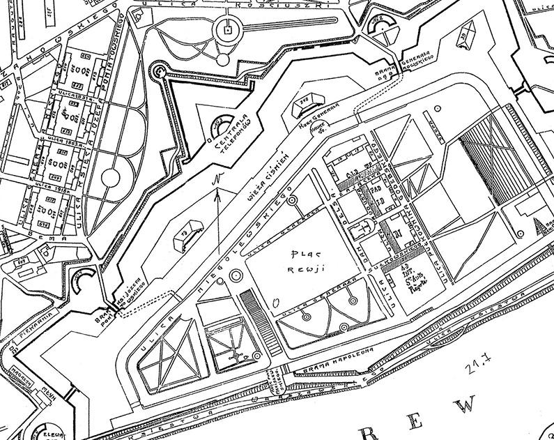 Mapa Twierdza Modlin
